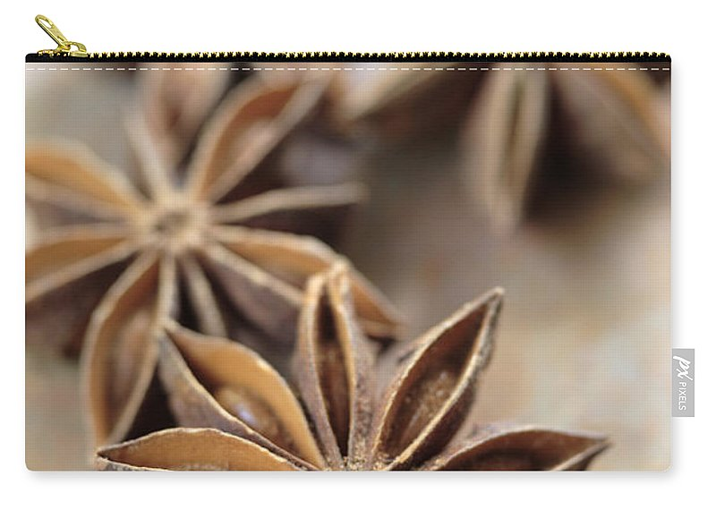 Star Carry-all Pouch featuring the photograph Star Anise by Neil Overy