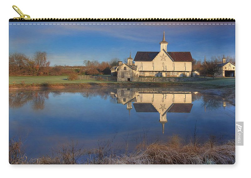 Star Carry-all Pouch featuring the photograph Star Barn Sunrise by Lori Deiter