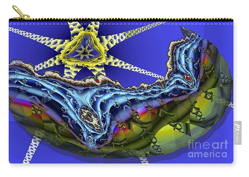 Star Fish Carry-all Pouch featuring the digital art Star Fish by Ron Bissett