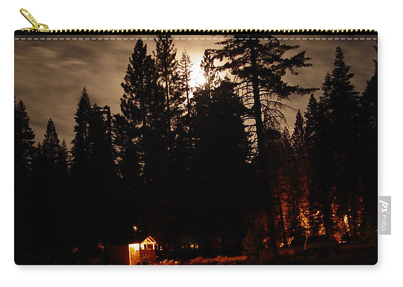 Moonlight Carry-all Pouch featuring the photograph Star Lit Camp by Peter Piatt
