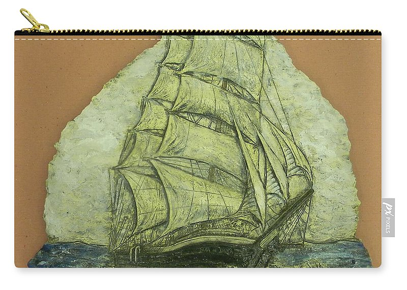 Star Of India Carry-all Pouch featuring the ceramic art Star Of India by Corey Jenny