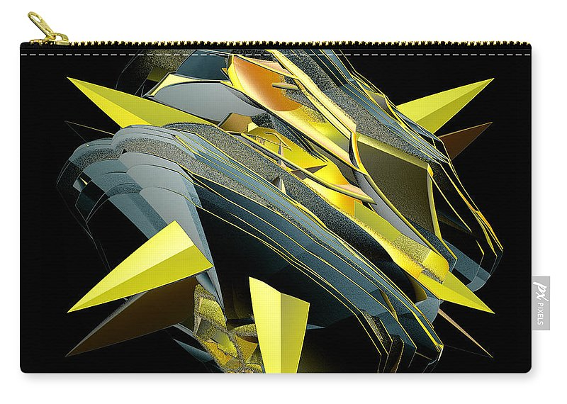 Incendia Carry-all Pouch featuring the digital art Star Of Yellow by Deborah Benoit