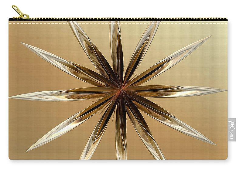 Digital Carry-all Pouch featuring the digital art Star Tan by Deborah Benoit
