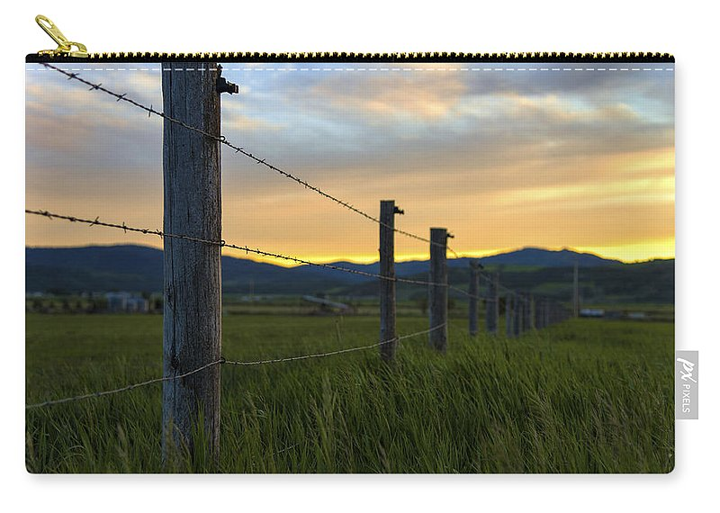 Star Valley Carry-all Pouch featuring the photograph Star Valley by Chad Dutson