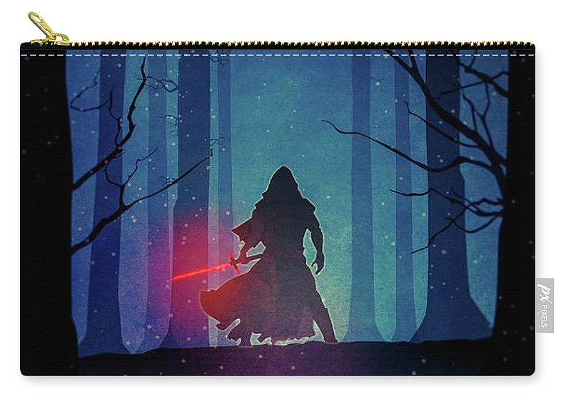 Star Carry-all Pouch featuring the drawing Star Wars - The Force Awakens by Farhad Tamim