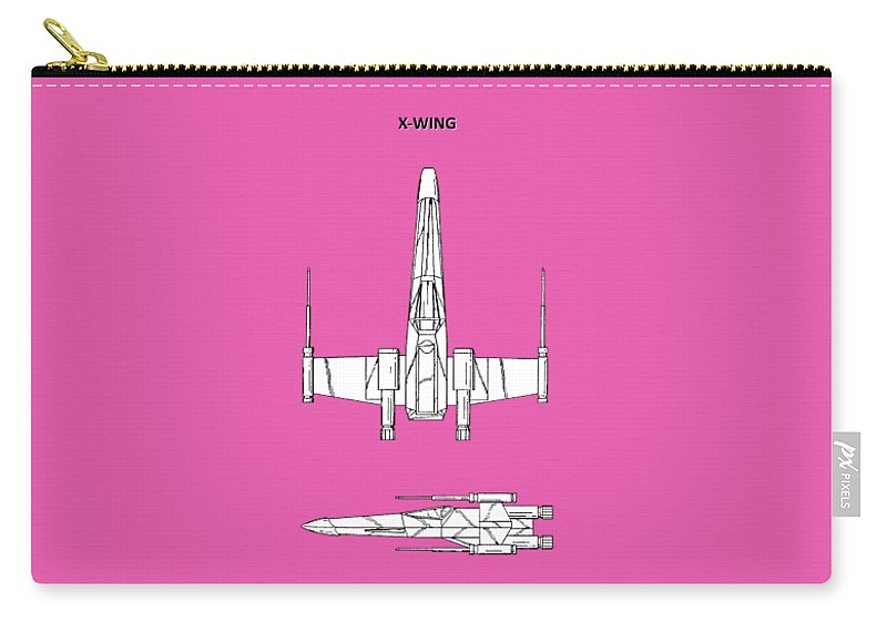 X-wing Carry-all Pouch featuring the photograph Star Wars X-wing Fighter by Mark Rogan