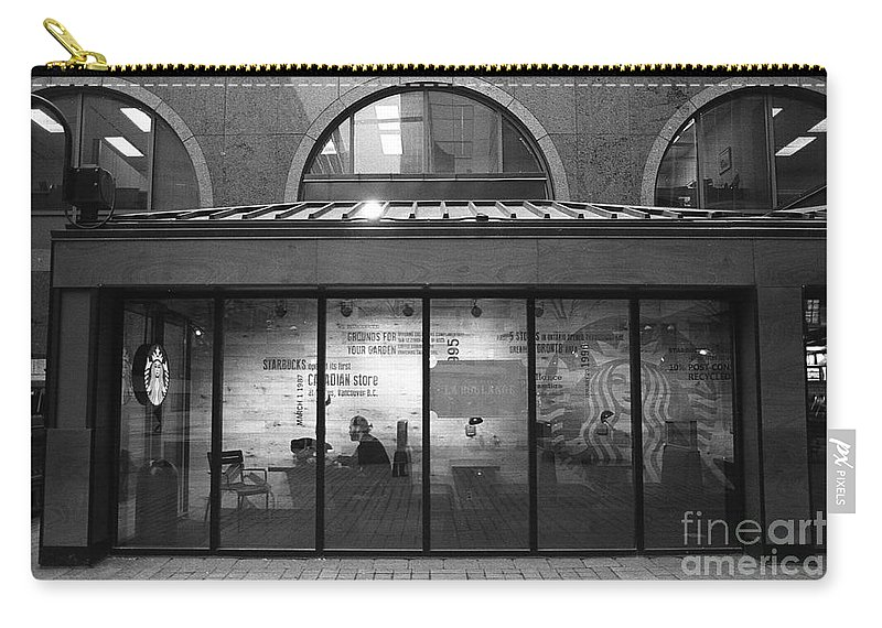 Starbucks Carry-all Pouch featuring the photograph Starbucks by Anne Nawrocka