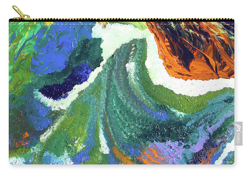 Fusionart Carry-all Pouch featuring the painting Starburst by Ralph White