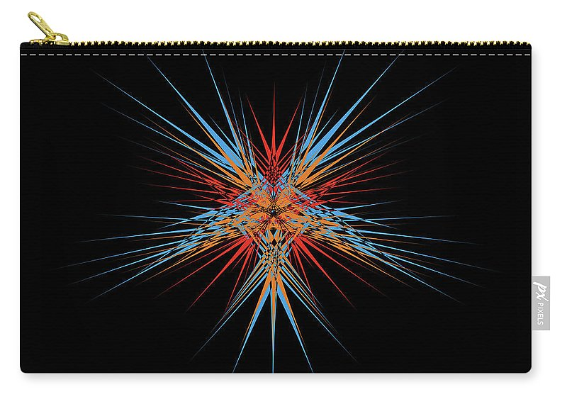 Digitalimage Carry-all Pouch featuring the digital art Starburst by Tony Svensson