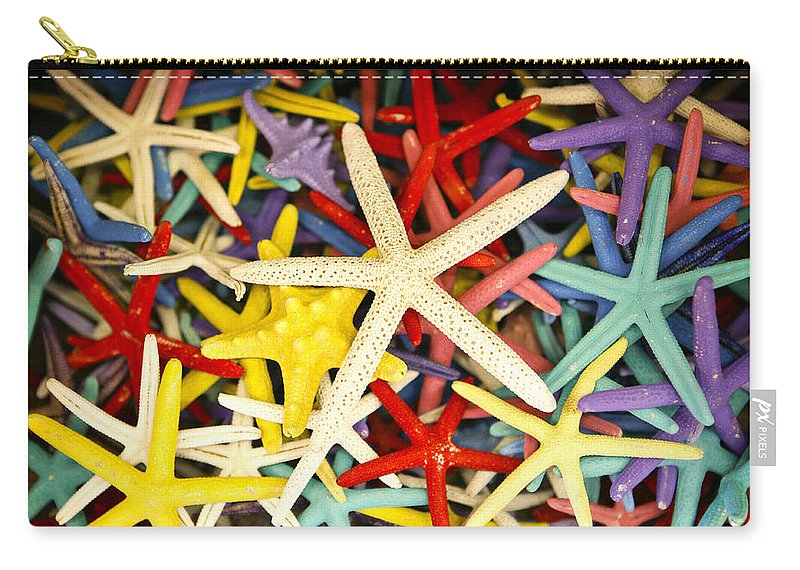 Starfish Carry-all Pouch featuring the photograph Starfish Dressed Up by Marilyn Hunt