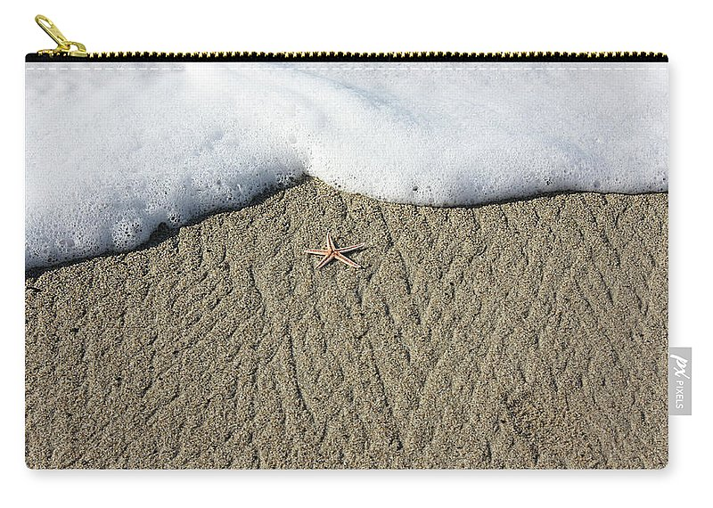 Starfish Carry-all Pouch featuring the photograph Starfish On The Beach by Gravityx9 Designs