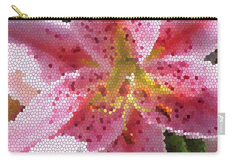 Digital Art Carry-all Pouch featuring the digital art Stargazer Stained Glass by Barbara Griffin