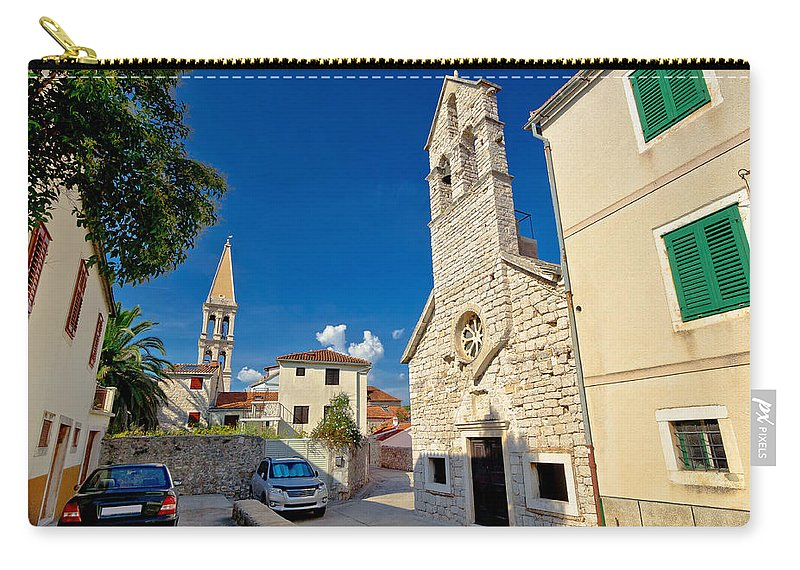 Starigrad Carry-all Pouch featuring the photograph Stari Grad On Hvar Island Stone Streets by Brch Photography