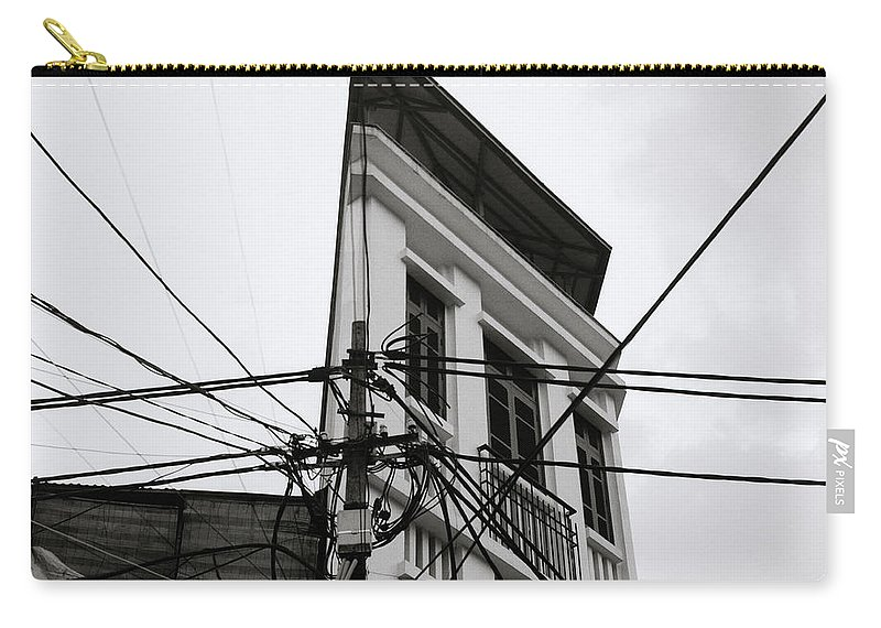 Geometry Carry-all Pouch featuring the photograph Stark Hanoi by Shaun Higson