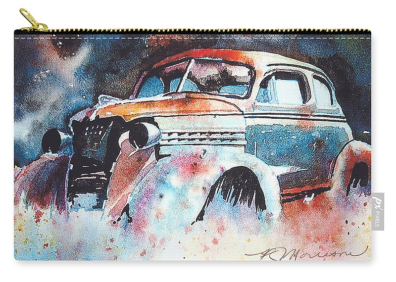 Chev Carry-all Pouch featuring the painting StarlightChevy by Ron Morrison