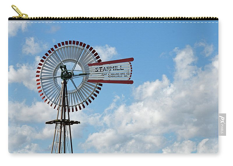 Windmill Carry-all Pouch featuring the photograph Starmill by David Arment