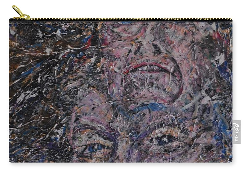 Painting Carry-all Pouch featuring the painting starr man David Bowie by Gordon Roy