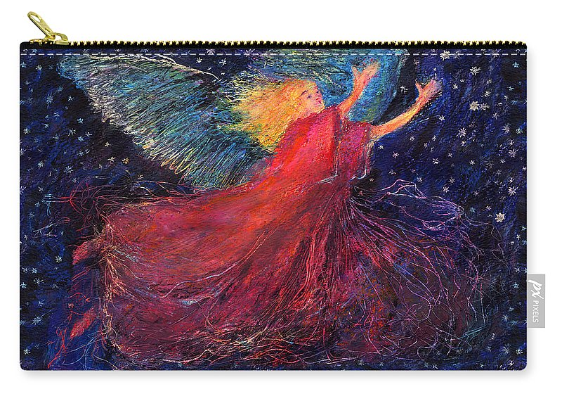 Angel Carry-all Pouch featuring the painting Starry Angel by Diana Ludwig