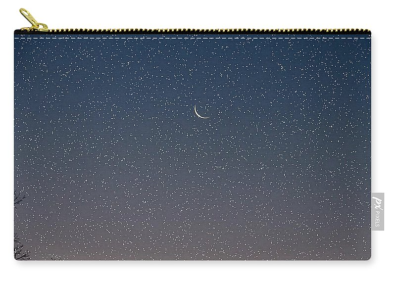 Carry-all Pouch featuring the photograph Starry Morning Sky by Luciana Seymour