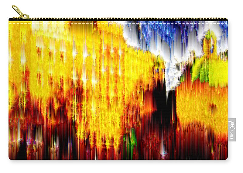 Old World Carry-all Pouch featuring the digital art Starry Night In Prague by Seth Weaver