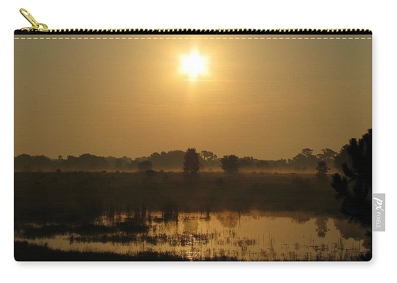 Nature Carry-all Pouch featuring the photograph Starry Sunrise by Peg Urban