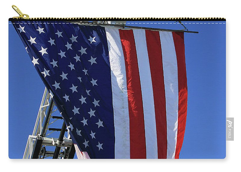 Americana Carry-all Pouch featuring the photograph Stars And Stripes by Karol Livote