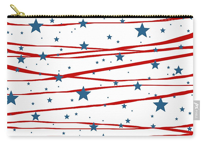 Stars And Stripes Carry-all Pouch featuring the digital art Stars and Stripes by Marianna Mills