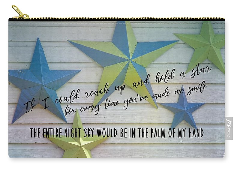 Star Carry-all Pouch featuring the photograph Stars Quote by JAMART Photography