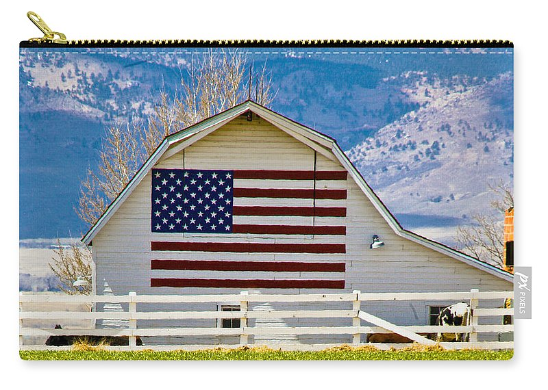 Barn Carry-all Pouch featuring the photograph Stars Stripes And Barns by Marilyn Hunt