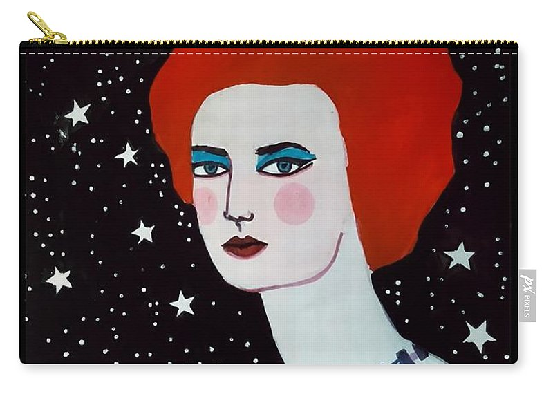 Poster Carry-all Pouch featuring the painting Starstruck by Madhurima Mukherjee