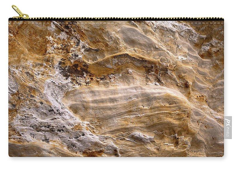 Sandstone Carry-all Pouch featuring the photograph Starvedrocksandstonepatterns by Steve Gadomski