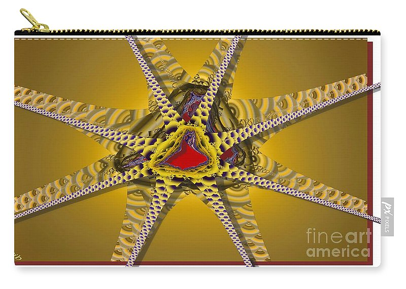 Stars Carry-all Pouch featuring the digital art Starz by Ron Bissett