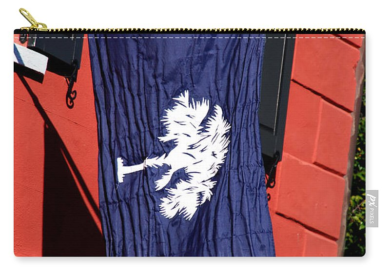 Photography Carry-all Pouch featuring the photograph State Flag Of South Carolina by Susanne Van Hulst