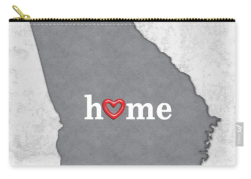 Map Of Georgia Outline.State Map Outline Georgia With Heart In Home Carry All Pouch