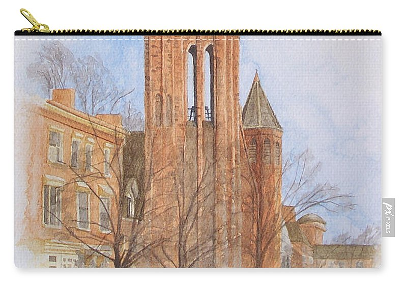 Gothic Carry-all Pouch featuring the painting State Street Church by Dominic White