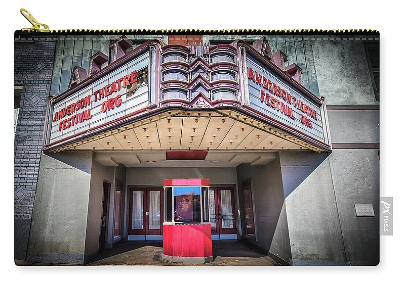Movie Carry-all Pouch featuring the photograph State Theater by Lynne Jenkins