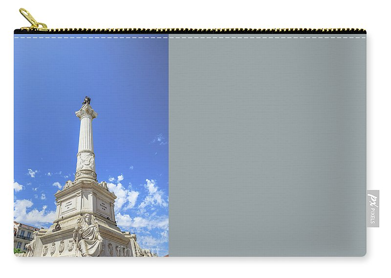 Lisbon Carry-all Pouch featuring the photograph Statue Of Dom Pedro Iv by Benny Marty