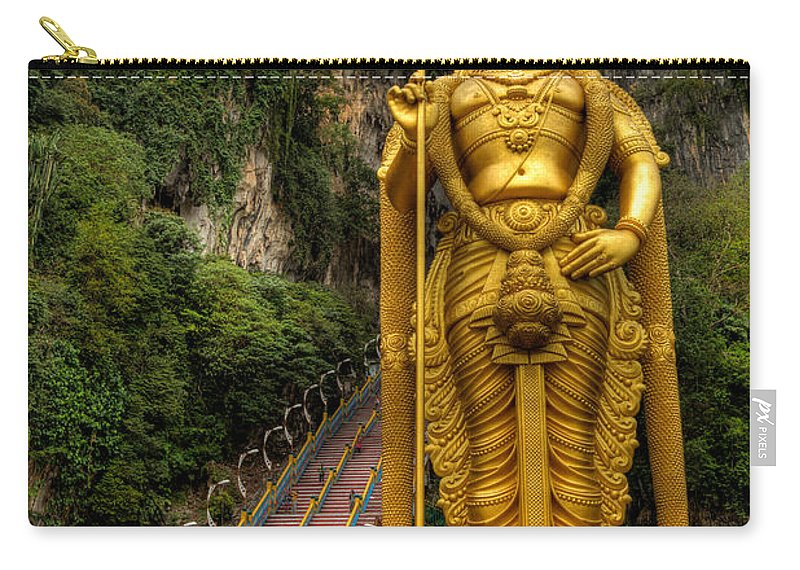 272 Carry-all Pouch featuring the photograph Statue Of Murugan by Adrian Evans