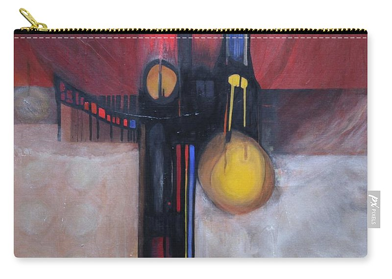 Abstract Carry-all Pouch featuring the painting Stay True by Marlene Burns