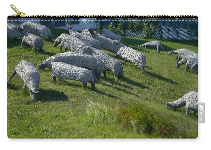 Sheep Carry-all Pouch featuring the photograph Ste Flavie 002 by Line Gagne
