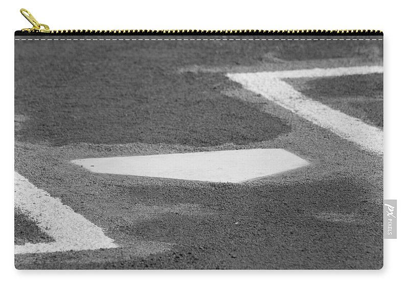 Home Plate Carry-all Pouch featuring the photograph Stealing Home by Laddie Halupa