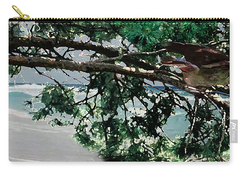 Landscape Carry-all Pouch featuring the painting Stealth by Steve Karol