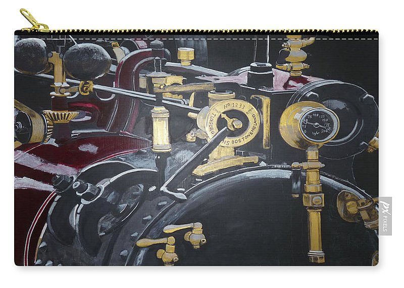 Tractor Carry-all Pouch featuring the painting Steam Tractor by Richard Le Page