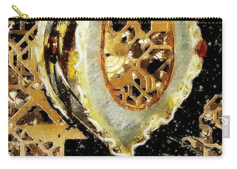 Christmas Carry-all Pouch featuring the painting Steampunk Christmas by RC DeWinter