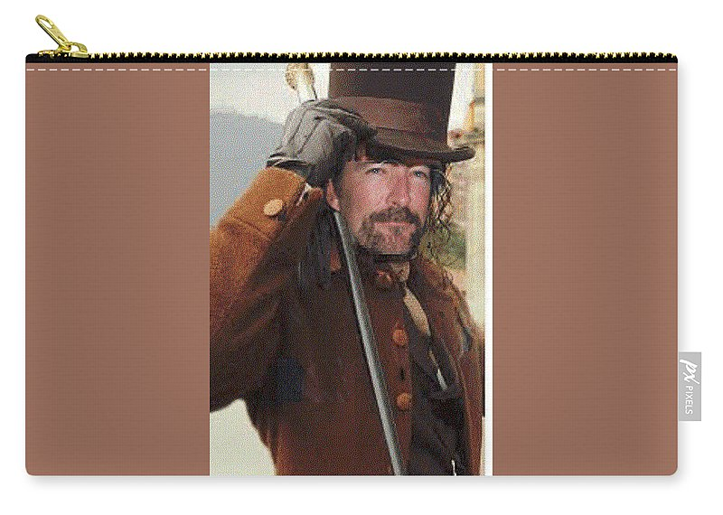 Handsome.steampunk Man Carry-all Pouch featuring the photograph Steampunk Patrick by Lisa Pursel