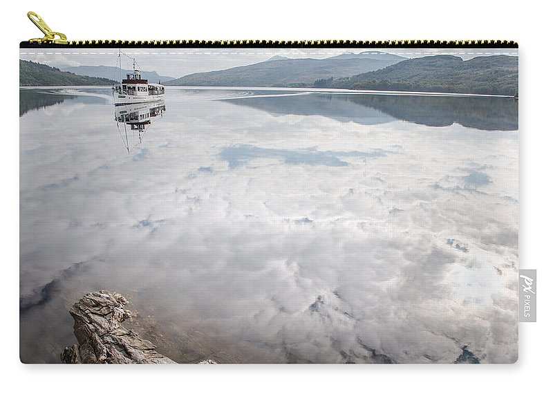 Loch Katrine Carry-all Pouch featuring the photograph Steamship Sir Walter Scott On Loch Katrine by Gary Eason