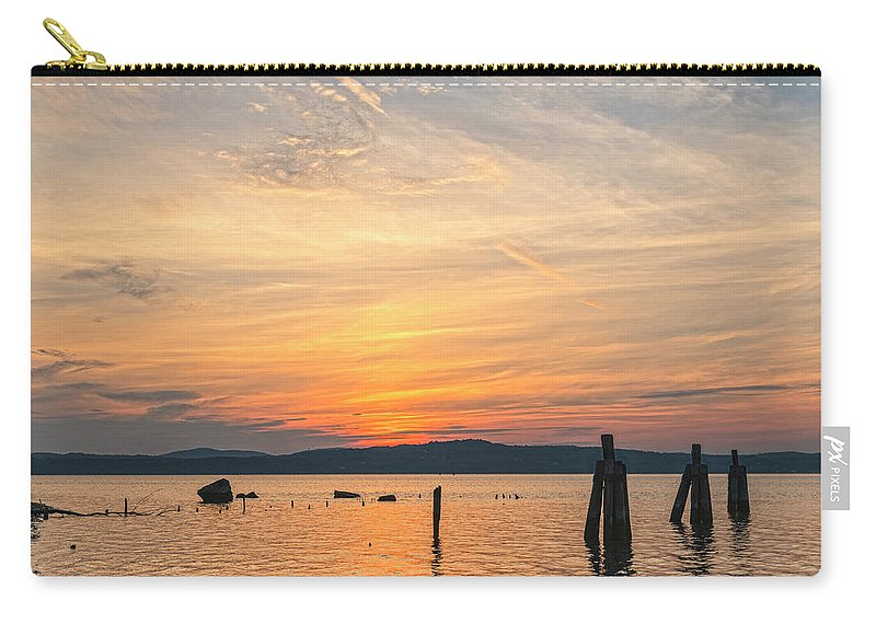 Emeline Park Carry-all Pouch featuring the photograph Steamy Hudson River Sunrise by Angelo Marcialis Melody Of Light Photography