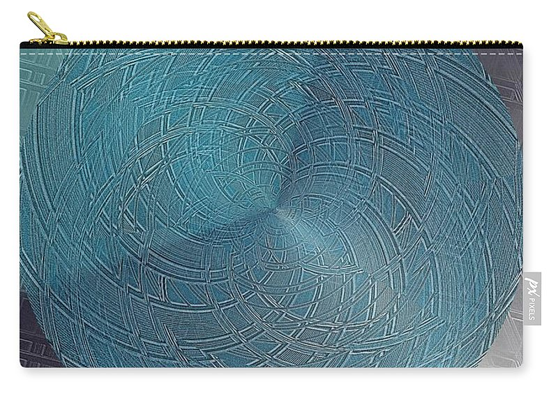 Abstract Carry-all Pouch featuring the digital art Steel Ball by Tim Allen