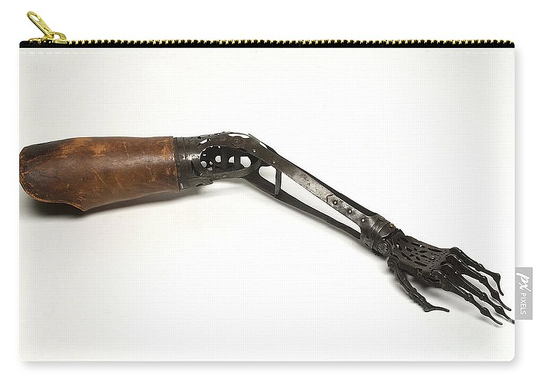 Historic Carry-all Pouch featuring the photograph Steel Hand And Arm, C. 1890 by Wellcome Images