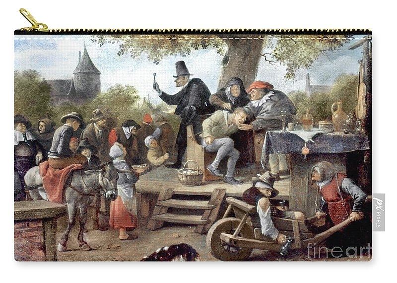 Aod Carry-all Pouch featuring the photograph Steen: Quack, 17th Century by Granger